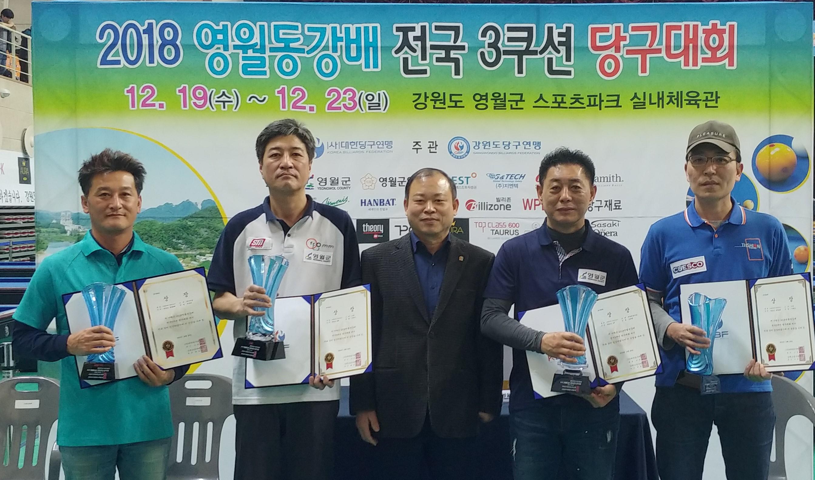 '대전캐롬' 김동현 동호인, '영월동강배 3쿠션' 우승