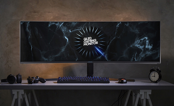 49-inch curved QLED gaming monitor