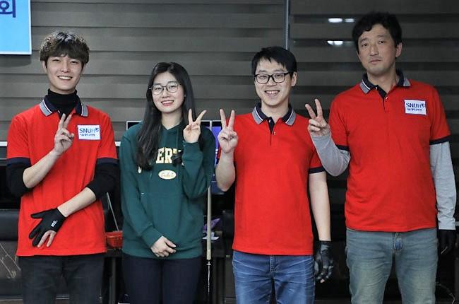 김보미 이미래와 함께한 '서울대병원 당구동호회 대회'
