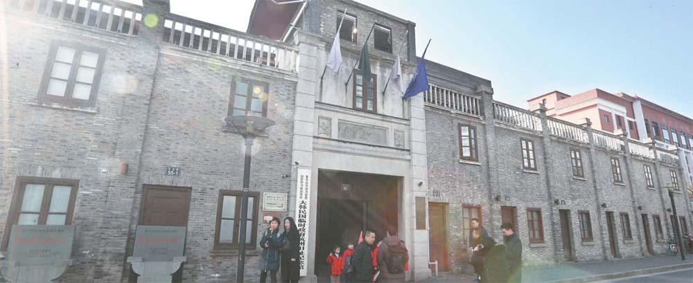 중국 항저우시에 위치한 `대한민국임시정부 항저우 구지(舊地) 기념관` 전경. 항저우 임정 두 번째 청사인 `호변촌 23호`와 주변 공간을 확장해 기념관을 단장했지만, 최근 사드 사태 이후 관광객이 상당수 줄어든 상태다. 항저우 기념관 측은 한국인의 관심과 방문을 당부했다.