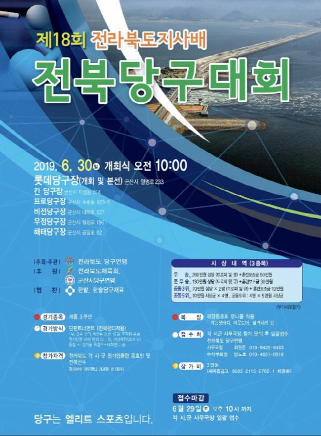 제18회 전라북도 도지사배 3쿠션 오픈대회