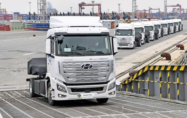 Hyundai ships first hydrogen trucks to Switzerland