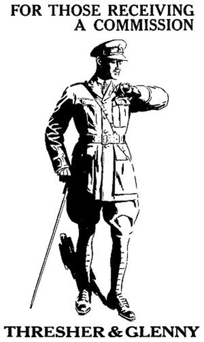 제1차 세계대전 당시의 영국 손목시계 광고. /출처=위키피디아