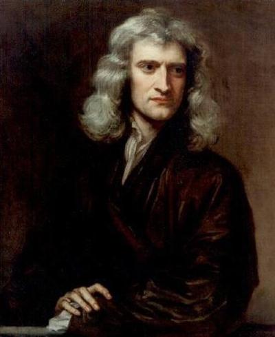 관성의 법칙을 이론화한 위대한 과학자 아이작 뉴턴