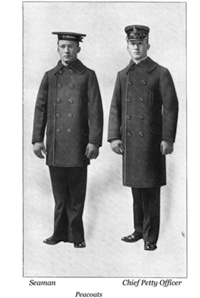 1913년 미 해군의 복장 규정 /출처=핀터레스트