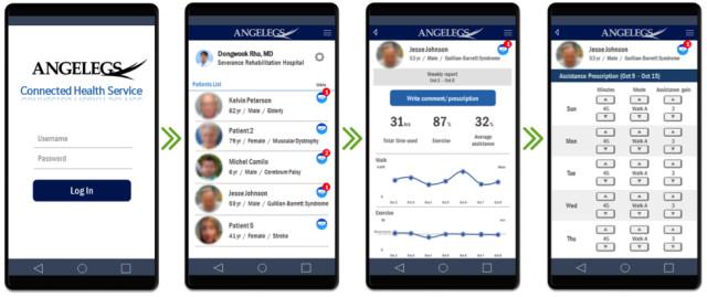엔젤렉스를 통해 수집된 환자의 정보는 실시간으로 의료진에게 전달된다./사진제공=서강대
