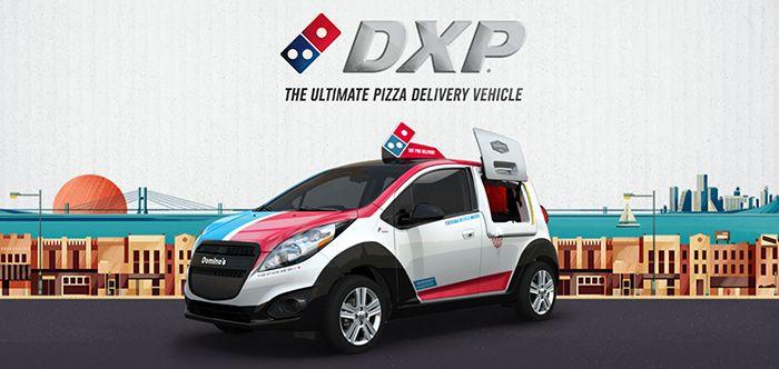 도미노피자의 배달전용차량 DXP. /사진=도미노스DXP 홈페이지 캡처