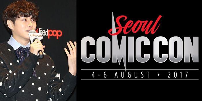 2017년 8월에 열리는 서울 코믹콘의 로고(오른쪽)과 홍보대사 김희철 씨. /사진출처 = 연합뉴스