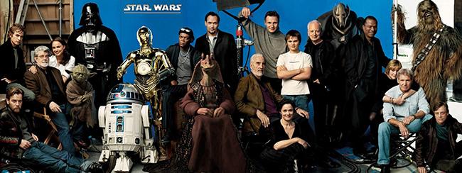스타워즈 영화 시리즈에 출연했던 배우들이 한자리에 모였다.
