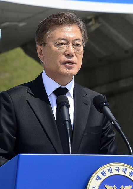 문재인 대통령이 18일 광주 5.18민주묘지에서 열린 5.18 민주화운동 기념식에서 기념사를 하고 있다. /사진=김재훈 기자
