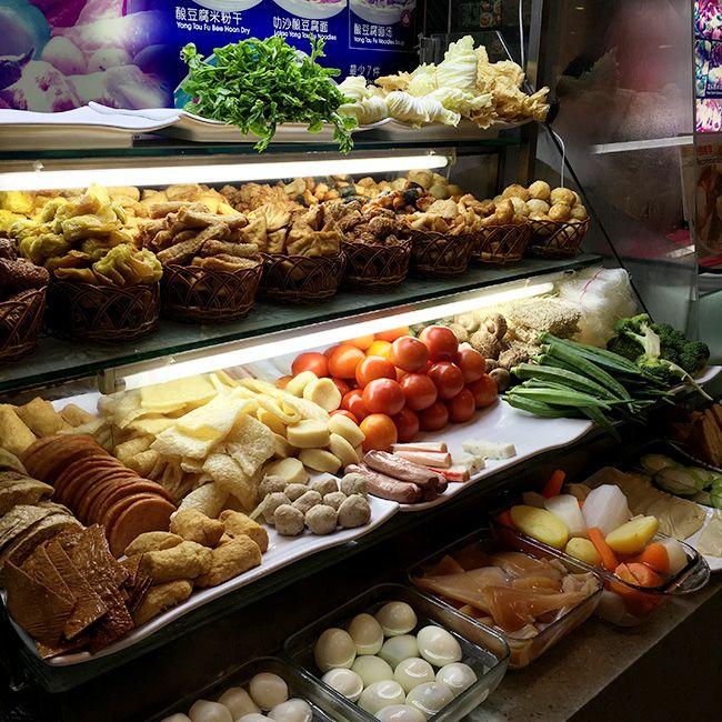 비보시티 내 코피티암의 신선한 식재료들