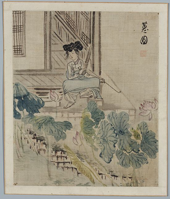 신윤복 작 연당의 여인. 어유야담은 상류층에서 기생, 승려, 천민 등 다양한 계층의 인간삶을 기록하고 있다.
