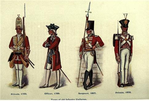 군인을 표적으로 바꿔주는 것이나 마찬가지였던 영국군의 군복 /사진=cjmenswear