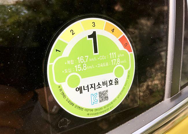 기아차 스토닉은 에너지 소비효율 1등급을 자랑한다.