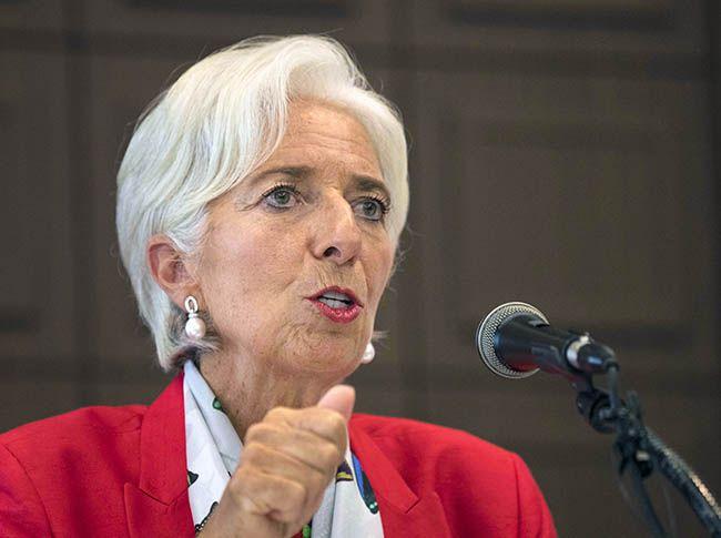 크리스틴 라가르드 국제통화기금(IMF) 총재가 11일 오후 서울 중구 한국프레스센터에서 열린 방한 성과 기자회견에서 발언하고 있다. /사진=연합뉴스