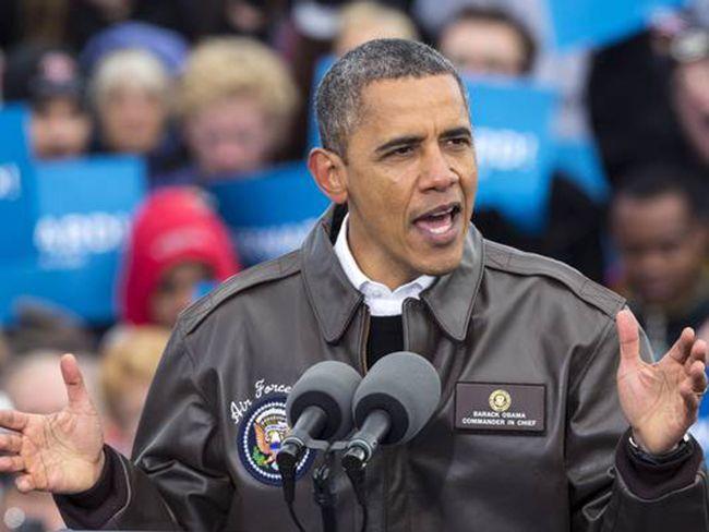 A2 바머 자켓을 입은 오바마 대통령. /출처=미 백악관 홈페이지