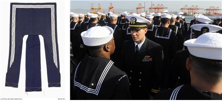 블루-진 컬러 /출처=호주국립박물관(좌), 미 해군(우) 홈페이지