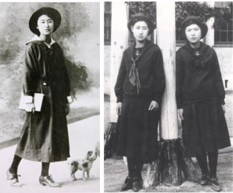 1920년대, 세일러복 교복을 입은 일본 여학생의 모습 /출처=야후재팬