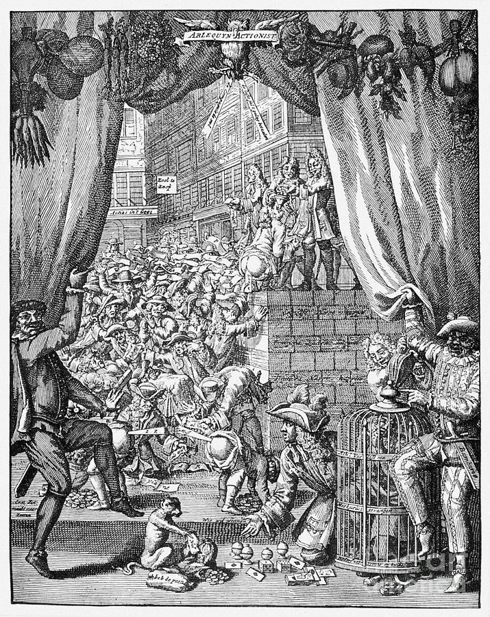 미시시피 버블을 풍자한 1720년 당시 삽화.