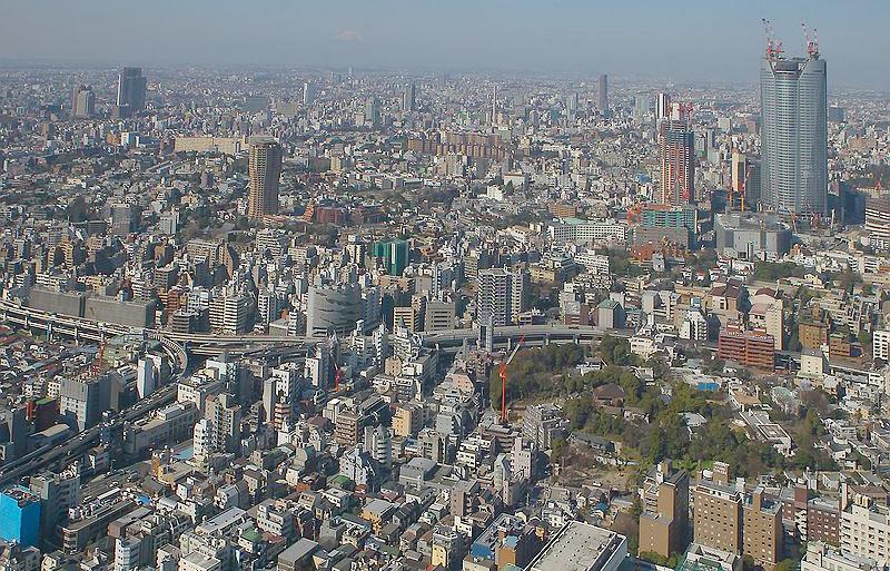 일본 도쿄 중심부 전경.