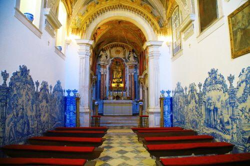 포르투갈 전통 타일 장식이 남아 있는 도나 마리아 훌리오 바스토스의 예배당