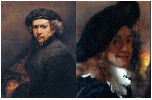 펠트 모자를 쓴 렘브란트(좌), 페르메이르(우)의 자화상 /출처=https://mic.com/articles/146546/