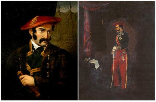 카를로스파의 리더 토마스 수말라카레기(Tomas Zumalacarregui)가 붉은 색 모자를 쓴 모습 /출처=https://mic.com/articles/146546/