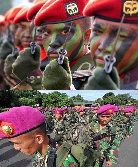 인도네시아군의 베레모 색은 화려하다. /출처=핀터레스트