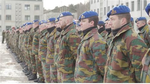 나토 베레모를 착용하고 있는 벨기에 육군 장병 /출처=http://nato.diplomatie.belgium.be/en