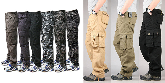 다양한 디자인과 색상으로 판매되고 있는 카고 팬츠. 인터넷에 군복바지, 작업복이라고 검색해도 같은 결과가 나온다. /출처=https://www.aliexpress.com/item/100-Cotton-Durable-Multi-Pocket-Loose-Baggy-Cargo-Pants-Men-Military-Style-Long-Trousers-Black-Khaki/32807403097.html
