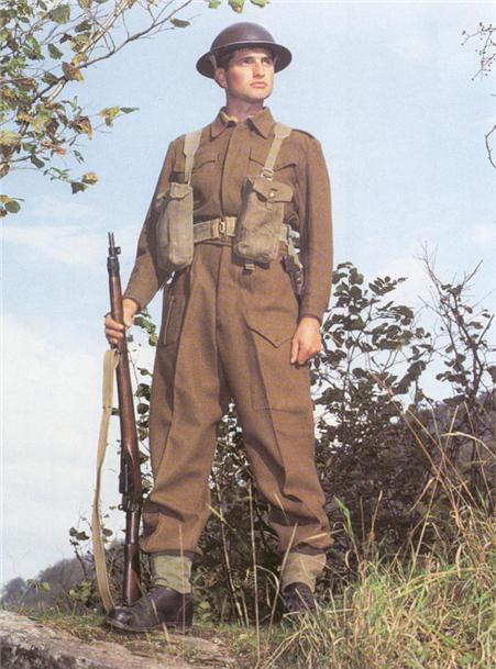 1937년형 전투복을 착용한 제2차 세계대전기 영국군 병사의 모습(그림) /출처=https://qmfashion.wordpress.com