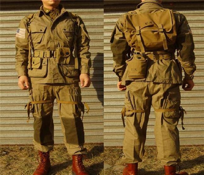 제2차 세계대전기 미 공정부대가 입던 M1942 점프 수트를 재현하여 제작한 모습 /출처=: http://www.royaltigergear.com/images/M42_jump.jpg