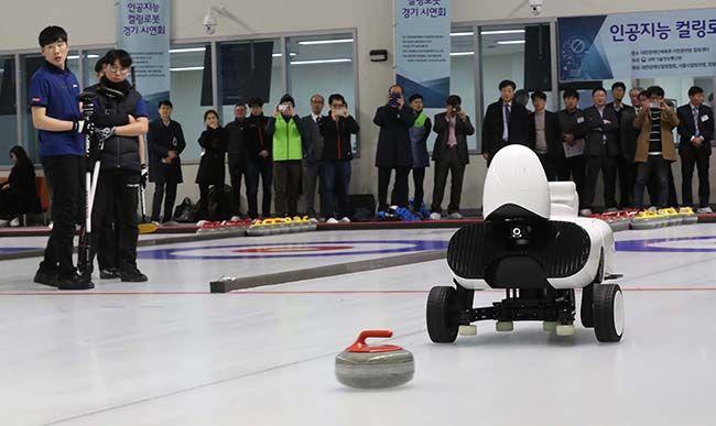 8일 대한장애인체육회 이천훈련원 컬링장에서 AI 소프트웨어