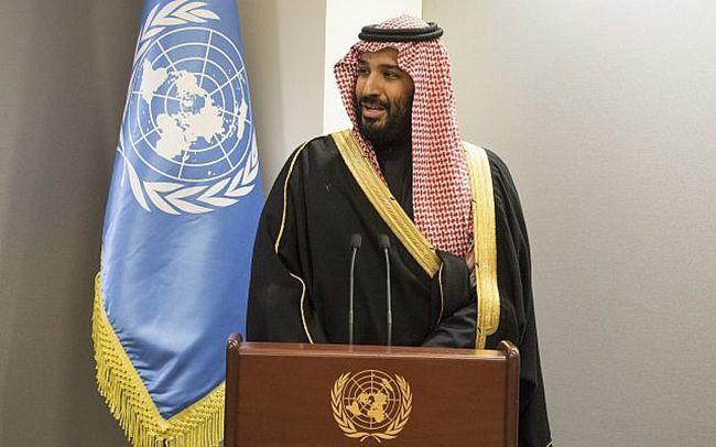 유엔서 연설하는 무함마브 빈 살만 사우디아라비아 왕세자. /자료=AP