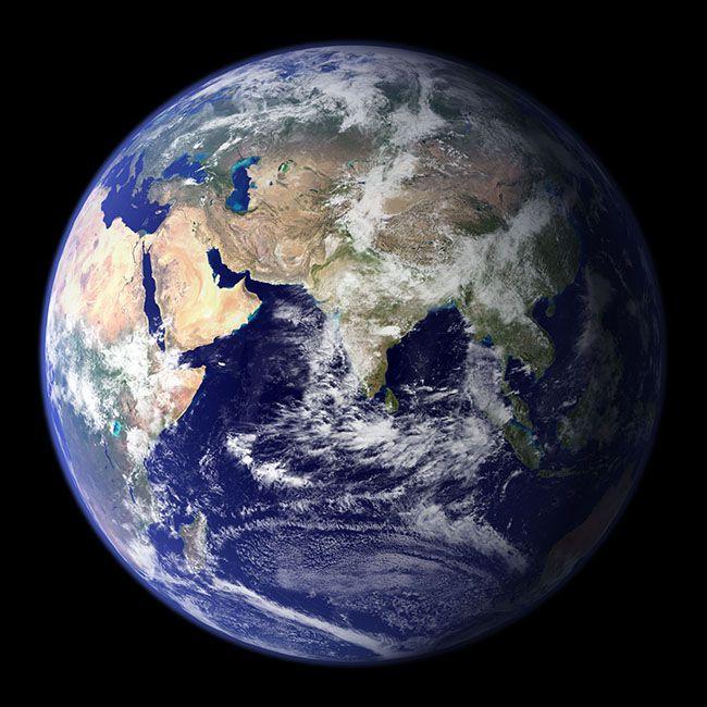 지구의 모습. 지구에 도달하는 태양에너지를 100% 쓸 수 있다면 인류는 카르다쇼프 척도로 1단계 문명이 될 수 있다. /사진=NASA
