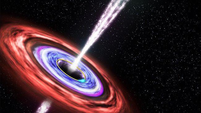 감마선 폭발 상상도. 몇 초 사이에 태양이 평생 방출하는 것보다 많은 에너지가 쏟아지는 미스터리한 천문 현상 /사진=NASA