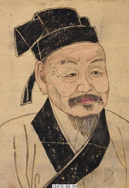 남송의 주희 초상. 주자학의 창시자이며 조선 선비의 표상으로 존경받았다. 국립민속박물관 소장