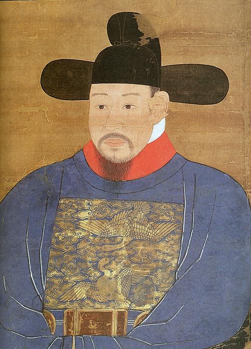 이우 초상. 퇴계 이황의 숙부이며 그의 유년기 스승이었다. 퇴계의 실제 용모를 유추해볼수 있는 단서 중 하나이다. 한국국학진흥원 소장