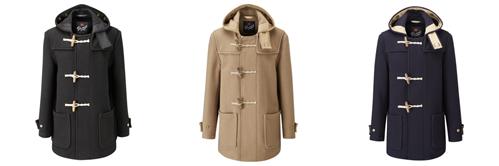 글로버올(Gloverall)의 클래식 더플 코트 3종 /출처=https://www.gloverall.com/blog/wear-duffle-coat/