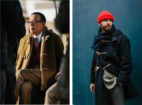 더플 코트는 중후한 노인과 멋쟁이 청년 모두에게 잘 어울린다. /출처 =https://www.permanentstyle.com/2018/03/the-duffle-coat.html