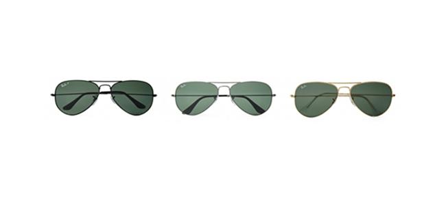 레이-밴의 가장 기본적인 디자인 제품 /출처=레이-밴 홈페이지