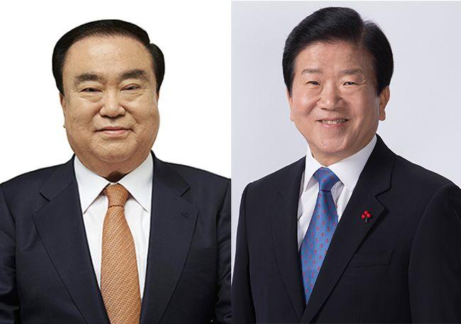 문희상 의원(좌), 박병석 의원(우) /사진=선거관리위원회