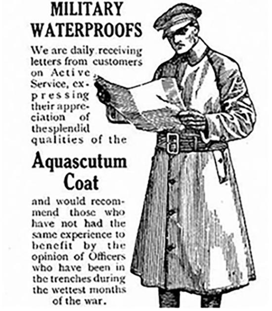 20세기 초의 래글런 코트 광고 /출처 =스미소니안박물관 홈페이지