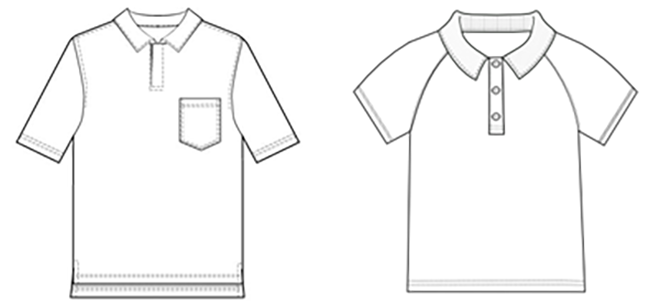 일반적 스타일의 티셔츠(좌)와 래글런 소매 스타일의 티셔츠(우) /출처=https://patterns.bootstrapfashion.com/>