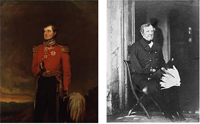 래글런 남작의 젊은 시절 초상화(좌), 노년의 사진(우) /출처=위키피디아