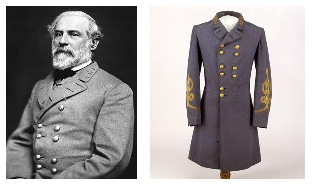 로버트 리 장군과 그가 입었던 프록 코트 재현품. /출처=위키피디아