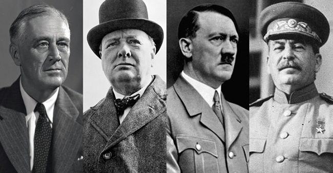 골초들(루스벨트, 처칠, 스탈린)과 금연운동가(히틀러)의 전쟁에서 승리는 골초들에게 돌아갔습니다.