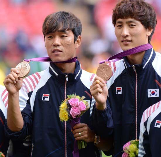 런던올림픽 남자 축구 동메달 시상식=올림픽 사진 공동취재단