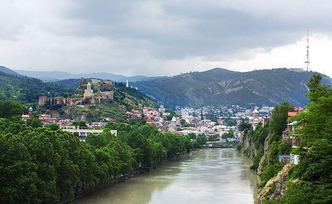 조지아의 수도 트빌리시의 전경