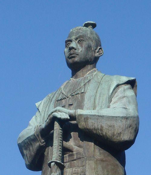 고니시 유키나가 동상. 고니시는 임진왜란때 일본군을 지휘했다. 일본 구마모토 우도성 소재